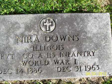 DOWNS, NIRA - Schuyler County, Illinois | NIRA DOWNS - Illinois Gravestone Photos