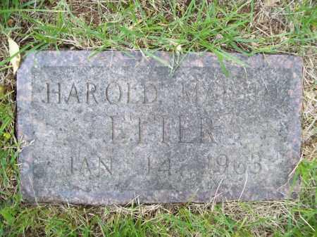 ETTER, HAROLD MARLIN - Schuyler County, Illinois | HAROLD MARLIN ETTER - Illinois Gravestone Photos