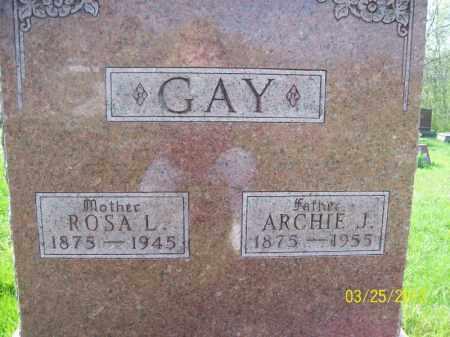 GAY, ROSA L - Schuyler County, Illinois | ROSA L GAY - Illinois Gravestone Photos