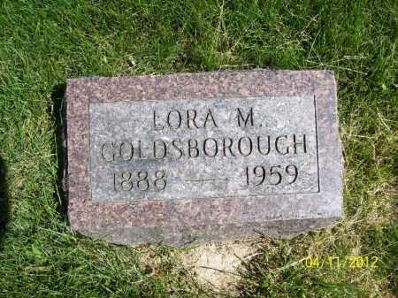 GOLDSBOROUGH, LORA M. - Schuyler County, Illinois | LORA M. GOLDSBOROUGH - Illinois Gravestone Photos