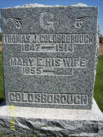 GOLDSBOROUGH, THOMAS J. - Schuyler County, Illinois | THOMAS J. GOLDSBOROUGH - Illinois Gravestone Photos