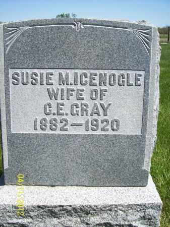 ICENOGLE GRAY, SUSIE M - Schuyler County, Illinois   SUSIE M ICENOGLE GRAY - Illinois Gravestone Photos