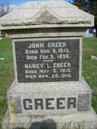 GREER, NANCY L - Schuyler County, Illinois | NANCY L GREER - Illinois Gravestone Photos