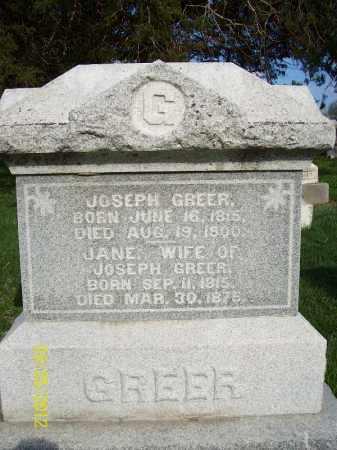 GREER, JOSEPH - Schuyler County, Illinois | JOSEPH GREER - Illinois Gravestone Photos