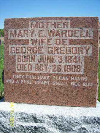 WARDELL GREGORY, MARY E. - Schuyler County, Illinois | MARY E. WARDELL GREGORY - Illinois Gravestone Photos