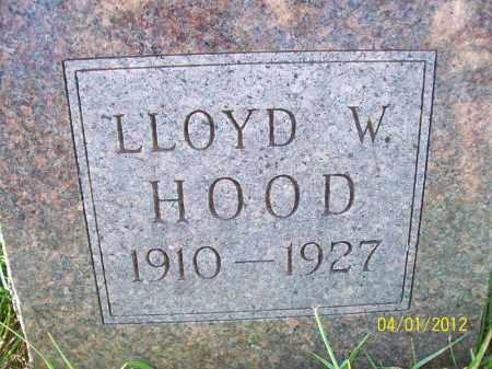 HOOD, LLOYD W - Schuyler County, Illinois | LLOYD W HOOD - Illinois Gravestone Photos
