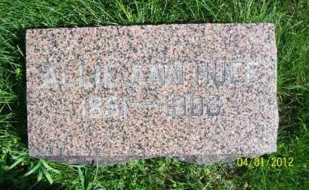 HUFF, ALLIE ANN - Schuyler County, Illinois | ALLIE ANN HUFF - Illinois Gravestone Photos
