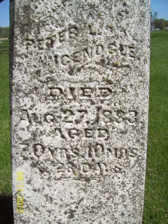 ICENOGLE, PETER L. - Schuyler County, Illinois | PETER L. ICENOGLE - Illinois Gravestone Photos