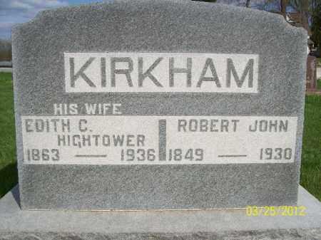 KIRKHAM, EDITH CATHERINE - Schuyler County, Illinois | EDITH CATHERINE KIRKHAM - Illinois Gravestone Photos