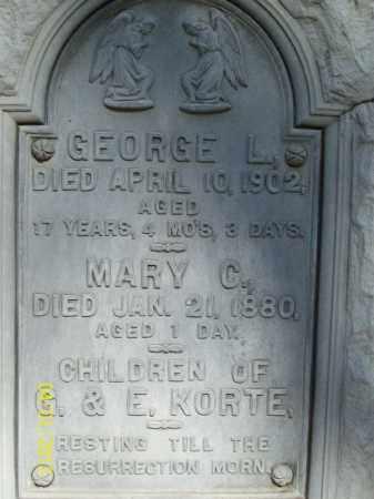 KORTE, MARY C - Schuyler County, Illinois | MARY C KORTE - Illinois Gravestone Photos