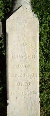 LAWLER, BERT RANDOLPH - Schuyler County, Illinois | BERT RANDOLPH LAWLER - Illinois Gravestone Photos