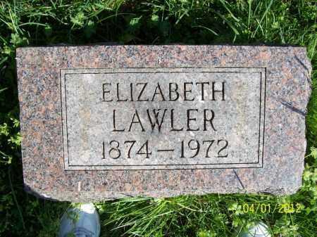 LAWLER, ELIZABETH - Schuyler County, Illinois | ELIZABETH LAWLER - Illinois Gravestone Photos