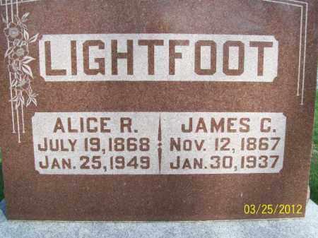 LIGHTFOOT, JAMES C - Schuyler County, Illinois | JAMES C LIGHTFOOT - Illinois Gravestone Photos