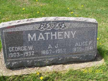 MATHENY, GEORGE W - Schuyler County, Illinois | GEORGE W MATHENY - Illinois Gravestone Photos