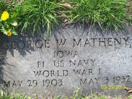 MATHENY, GEORGE W (MIL) - Schuyler County, Illinois   GEORGE W (MIL) MATHENY - Illinois Gravestone Photos