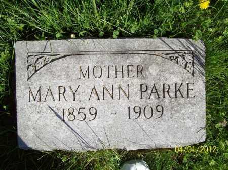 PARKE, MARY ANN - Schuyler County, Illinois | MARY ANN PARKE - Illinois Gravestone Photos
