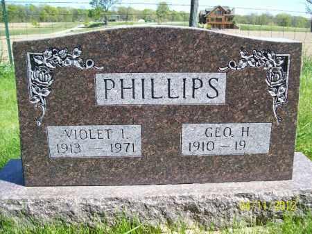 GOLDSBOROUGH PHILLIPS, VIOLET I. - Schuyler County, Illinois | VIOLET I. GOLDSBOROUGH PHILLIPS - Illinois Gravestone Photos