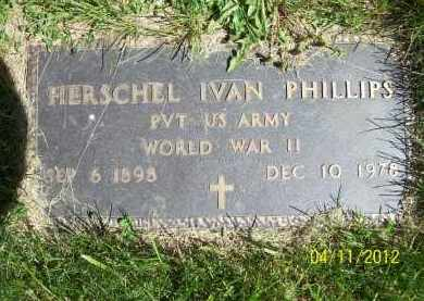 PHILLIPS, HERSCHEL IVAN (MIL) - Schuyler County, Illinois | HERSCHEL IVAN (MIL) PHILLIPS - Illinois Gravestone Photos
