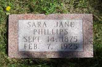 PHILLIPS, SARA JANE - Schuyler County, Illinois   SARA JANE PHILLIPS - Illinois Gravestone Photos