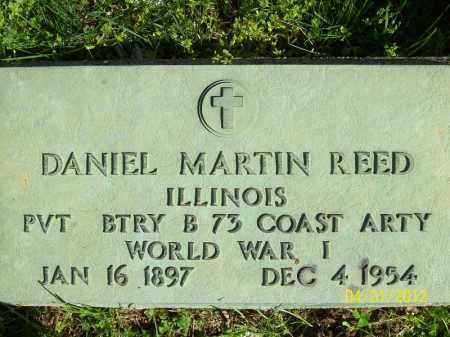 REED, DANIEL MARTIN - Schuyler County, Illinois   DANIEL MARTIN REED - Illinois Gravestone Photos