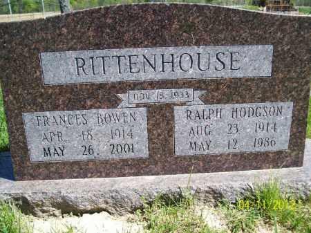 RITTENHOUSE, RALPH HODGSON - Schuyler County, Illinois | RALPH HODGSON RITTENHOUSE - Illinois Gravestone Photos
