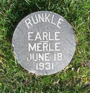 RUNKLE, EARLE FRANCIS - Schuyler County, Illinois | EARLE FRANCIS RUNKLE - Illinois Gravestone Photos