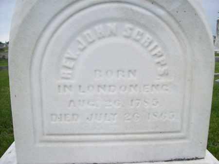 SCRIPPS, REV. JOHN - Schuyler County, Illinois   REV. JOHN SCRIPPS - Illinois Gravestone Photos