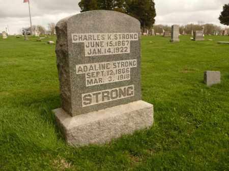 STRONG, ADALINE - Schuyler County, Illinois   ADALINE STRONG - Illinois Gravestone Photos