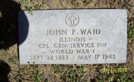 WAID, JOHN F. (MIL) - Schuyler County, Illinois | JOHN F. (MIL) WAID - Illinois Gravestone Photos