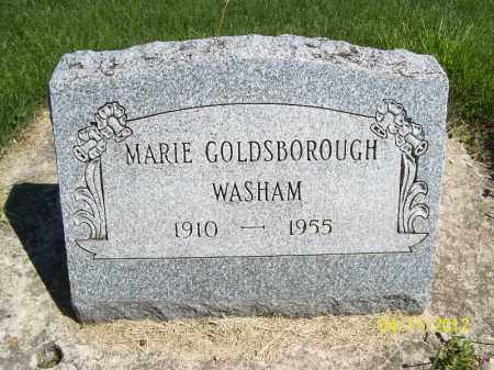 WASHAM, MARIE - Schuyler County, Illinois | MARIE WASHAM - Illinois Gravestone Photos