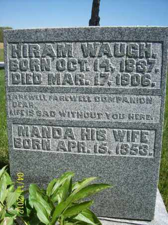 WAUGH, MANDA - Schuyler County, Illinois | MANDA WAUGH - Illinois Gravestone Photos