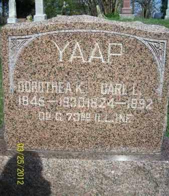 YAAP, DOROTHEA K - Schuyler County, Illinois | DOROTHEA K YAAP - Illinois Gravestone Photos