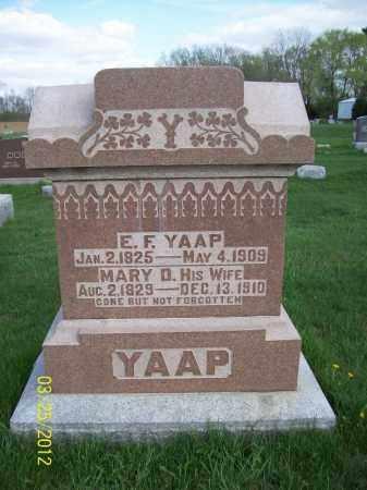 YAAP, E. FERDINAND - Schuyler County, Illinois | E. FERDINAND YAAP - Illinois Gravestone Photos