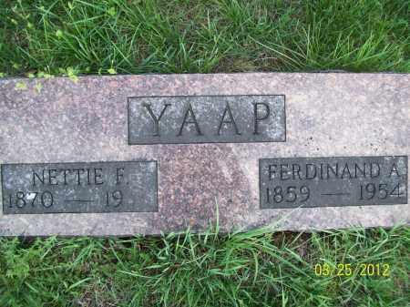 YAAP, NETTIE F - Schuyler County, Illinois | NETTIE F YAAP - Illinois Gravestone Photos