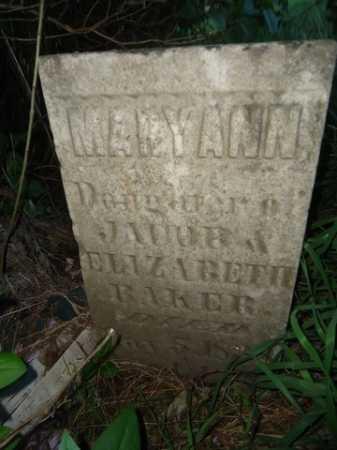 BAKER, MARY ANN - Scott County, Illinois | MARY ANN BAKER - Illinois Gravestone Photos