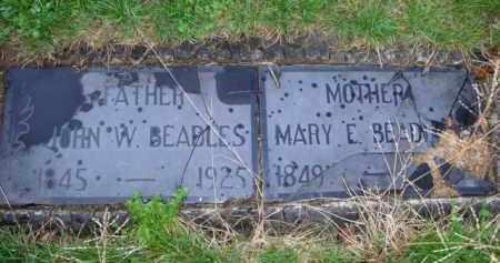 BEADLES, MARY E - Scott County, Illinois   MARY E BEADLES - Illinois Gravestone Photos