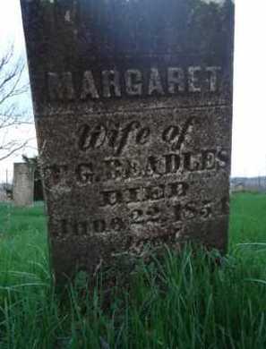 BEADLES, MARGARET - Scott County, Illinois   MARGARET BEADLES - Illinois Gravestone Photos