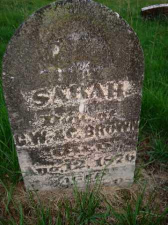 BROWN, SARAH - Scott County, Illinois   SARAH BROWN - Illinois Gravestone Photos