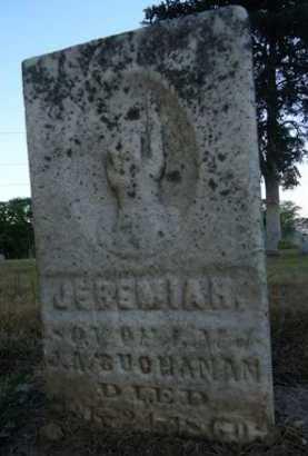 BUCHANAN, JEREMIAH - Scott County, Illinois | JEREMIAH BUCHANAN - Illinois Gravestone Photos