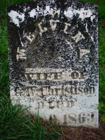 CHRISTISON, SARA MELVINA - Scott County, Illinois | SARA MELVINA CHRISTISON - Illinois Gravestone Photos