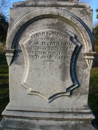 MASON DEAN, SARAH E. - Scott County, Illinois | SARAH E. MASON DEAN - Illinois Gravestone Photos