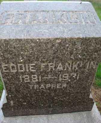 FRANKLIN, EDDIE - Scott County, Illinois | EDDIE FRANKLIN - Illinois Gravestone Photos