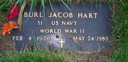 HART, BURL JACOB - Scott County, Illinois | BURL JACOB HART - Illinois Gravestone Photos