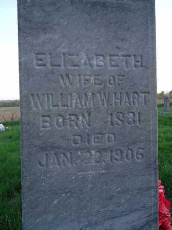HART, ELIZABETH - Scott County, Illinois   ELIZABETH HART - Illinois Gravestone Photos