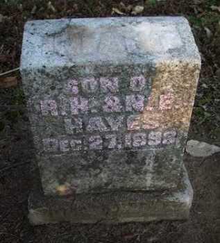 HAYES, (INFANT) - Scott County, Illinois | (INFANT) HAYES - Illinois Gravestone Photos