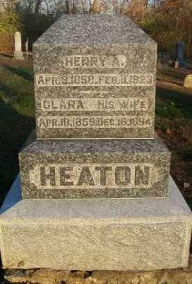 HEATON, CLARA - Scott County, Illinois | CLARA HEATON - Illinois Gravestone Photos