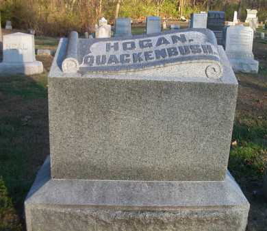 HOGAN/QUACKENBUSH, FAMILY STONE - Scott County, Illinois   FAMILY STONE HOGAN/QUACKENBUSH - Illinois Gravestone Photos