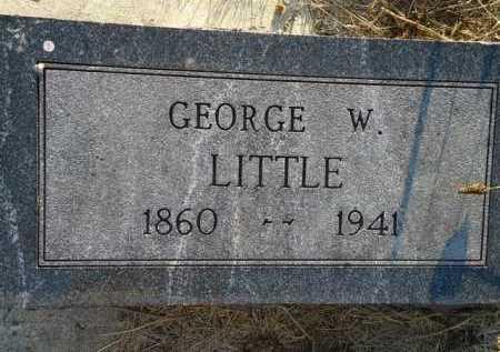 LITTLE, GEORGE W. - Scott County, Illinois | GEORGE W. LITTLE - Illinois Gravestone Photos