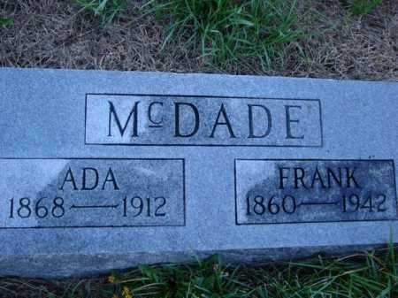 MCDADE, FRANK - Scott County, Illinois | FRANK MCDADE - Illinois Gravestone Photos