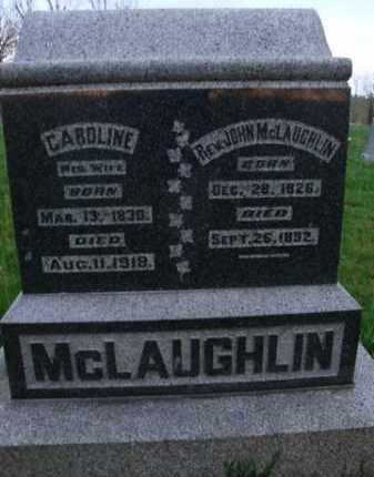 MCLAUGHLIN, REV. JOHN - Scott County, Illinois | REV. JOHN MCLAUGHLIN - Illinois Gravestone Photos